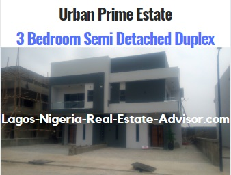 Houses For Sale In Urban Prime Two In Ajah Lagos: 3 Bedroom Semi Detached Duplex