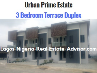 Urban Prime Two Estate In Ajah Lagos - The Lavadia: 3 Bedroom Terrace Duplex