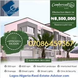 Camberwall Estate Ibeju Lekki Lagos