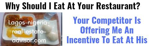 Restaurant Marketing Incentive Lagos Nigeria
